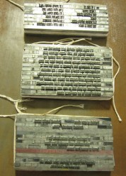 Recipe handset in Weiss typeface